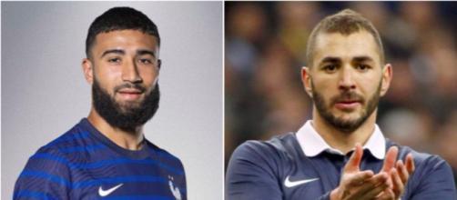 Nabil Fekir et Karim Benzema pourraient jouer l'Euro - photos captures d'écran Twitter et Instagram