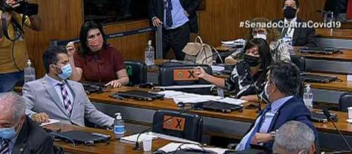 CPI da Covid registra discussão (Reprodução/TV Senado)