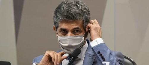 Teich presta depoimento em CPI da Covid (Jefferson Rudy/Agência Senado)