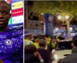 N'golo Kanté fait le buzz en quittant Stamford Bridge - Photo captures d'écran Twitter RMC et vidéo