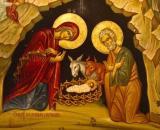 Una pintura sobre el lugar donde se dice que nació Jesús en la Gruta de la Natividad, en Belén (Dan Lundberg/Flickr)