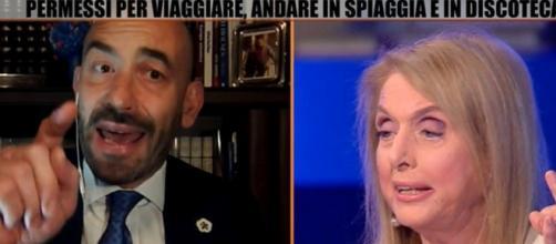 Matteo Bassetti manda a quel paese Antonella Boralevi durante Zona Bianca.