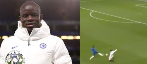 N'Golo Kanté aura été omniprésent face au Real Madrid. (crédit match vidéo RMC Sport)