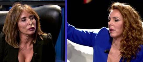 Rocío Carrasco pone en entredicho una información de María Patiño. (Imagen: Telecinco.es)