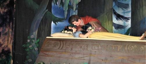 Prince Charming kissing Snow White in 'Disneyland [Photo Credit: Emily Gracey/Flickr]