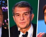 Florentino Perez, Joan Laporta e Andrea Agnelli: i tre presidenti ancora rimasti nella Superlega.