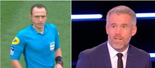 L'arbitre de Rennes PSG et Landreau se sont fait détruire par les internautes - Photo capture d'écran vidéo Twitter