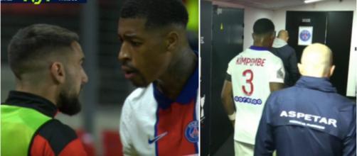 Presnel Kimpembe a insulté les Rennais après sa sortie sur expulsion. (capture match Canal+ Rennes vs PSG)