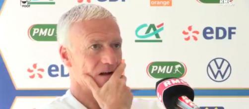 Didier Deschamps devrait décevoir les fans de l'équipe de France avec sa composition d'équipe - Photo capture d'écran vidéo Twitter