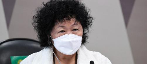 Médica Nise Yamaguchi é ouvida na Comissão Parlamentar de Inquérito (Jefferson Rudy/Agência Senado)