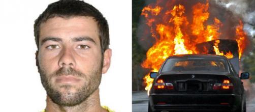Tomás Gimeno quemó su propio coche (RRSS y Pixabay)