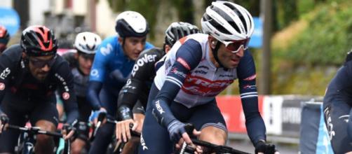 Vincenzo Nibali impegnato al Giro d'Italia
