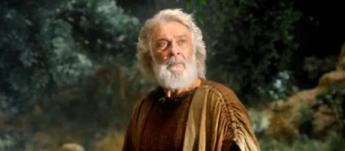 Abraão em cena de 'Gênesis' (Reprodução/Record TV)