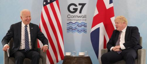Biden Meets with British PM Johnson ahead of G-7 Summit (Image source: Number 10/Flickr)