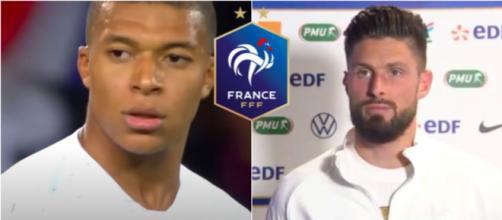 Photo captures d'écran vidéo youtube - Mbappé / Giroud