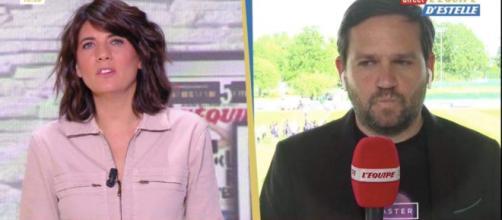 Estelle Denis et Sébastien Tarrago - screenshot Twitter l'Équipe d'Estelle