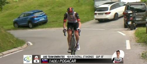 Tadej Pogacar in fuga al Giro di Slovenia