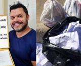 Concejal de Porto Alegre recupera 62 currículos de la basura y los reparte en empresas (@kaka_davilapoa / Instagram)