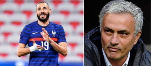 José Mourinho a fait une déclaration élogieuse sur Karim Benzema - Source : montage Twitter Mourinho page de fan
