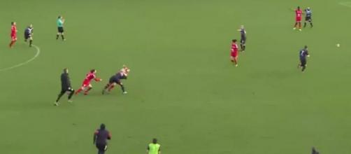 Les deux joueuses en sont venues aux mains en plein match - Source Facebook @PiedsCarresFem