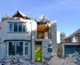 Imagen de la casa destruída (Fuente:Pixabay)