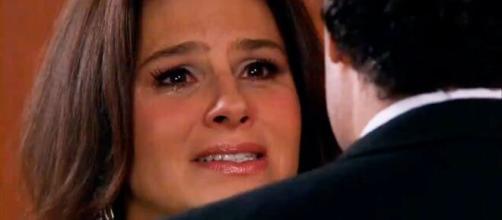 Cristina quer se separar de Aguiar em 'Amores Verdadeiros' (Divulgação/Televisa)