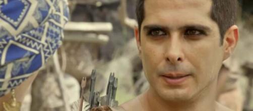Ismael encara irmão em 'Gênesis' (Reprodução/Record TV)