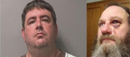 La violenta pelea se fue por la solicitud de usar correctamente la mascarilla: Michael (izq.) y Dinning (der.). (Fotos: Tribunal Condado de Polk)
