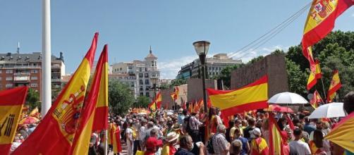 Manifestación en la plaza madrileña de Colón (@populares)