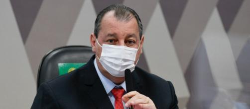 Omar Aziz critica Bolsonaro por condução da crise sanitária (Edilson Rodrigues/Agência Senado)