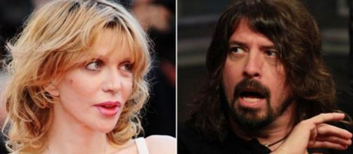 Courtney Love accusa Dave Grohl sul patrimonio di Kurt Cobain.