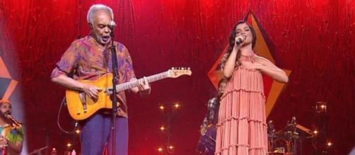 Gilberto Gil e Juliette encantam em live (Reprodução/Multishow)