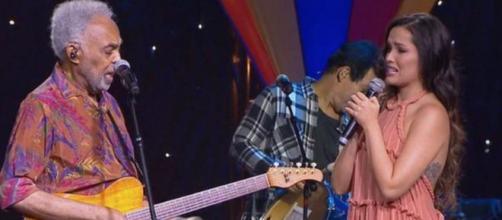 Gilberto Gil e Juliette se emocionam em live junina (Reprodução/Multishow)