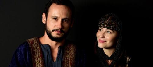 Isaque conhece Rebeca em 'Gênesis' (Divulgação/Record TV)