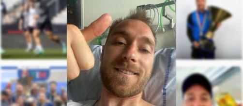 La foto que publicó Christian Eriksen desde el hospital de Copenhague. (Instagram @chriseriksen8)