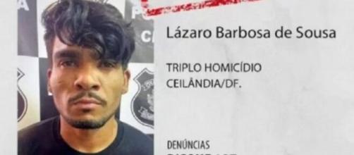 Lázaro Barbosa de Sousa é procurado pela polícia, suspeito de matar quatro pessoas (Divulgação/PMDF)