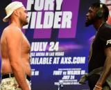 Tyson Fury e Deontay Wilder nell'interminabile face off.