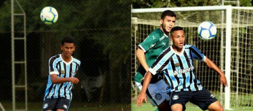 Fernando Henrique e Guilherme Azevedo perdem espaço no Grêmio (Fotomontagem/Divulgação/Grêmio)