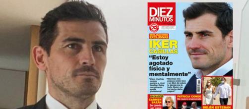 La porta de 'Diez Minutos' que Iker Casillas desmiente. (Instagram @ikercasillas y Twitter)