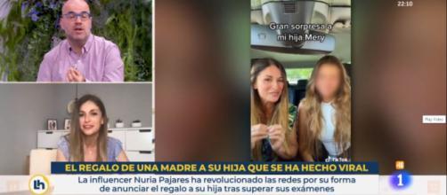 """Para la madre la razón de la polémica fue la forma en que pronunció """"Luis Vuitton"""". (Fuente: captura de pantalla de rtve.es)"""