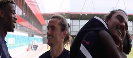 Paul Pogba et Antoine Griezmann très proches. (image captures Twitter FFF)