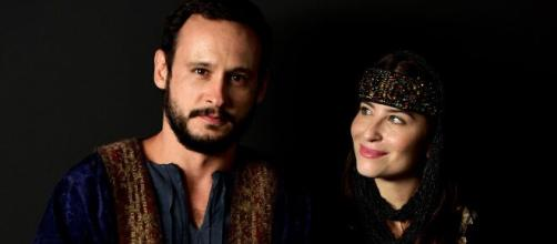Isaque e Rebeca terão Esaú e Jacó em 'Gênesis' (Divulgação/Record TV)