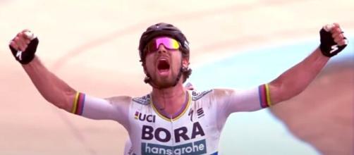 Peter Sagan corre con la Bora hansgrohe dal 2017.