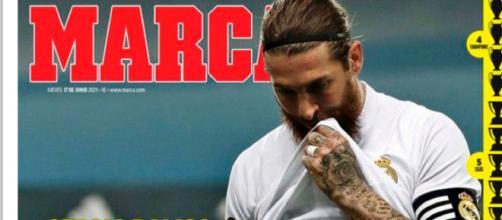 Sergio Ramos quitte le Real Madrid, 'Une légende s'en va' titre Marca - Source : Capture d'écran, Marca
