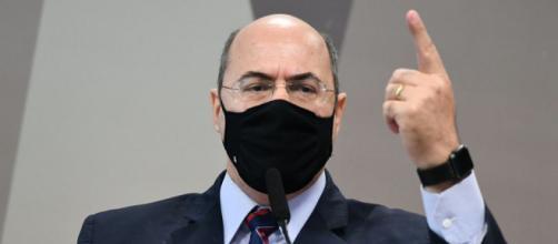 Wilson Witzel fez críticas ao governo Bolsonaro na CPI da Covid (Jefferson Rudy/Agência Senado)