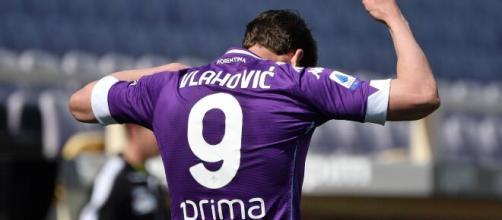 Dušan Vlahović, attaccante della Fiorentina.