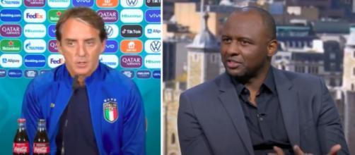 Le coup de Gueule de Patrick Vieira contre Mancini et l'Italie - Photo captures d'écran vidéo Youtube