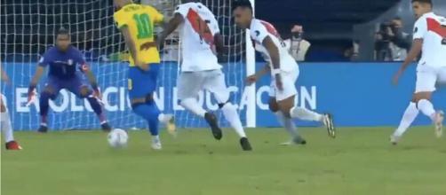 Le festival de Neymar contre le Pérou - Source : capture d'écran Fox 1