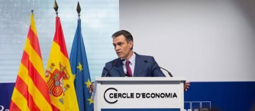 Pedro Sánchez compareciendo en el Círculo de Economía (Imagen: La Sexta)