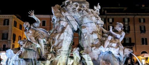 Fontana dei Quattro Fiumi, Roma.